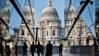 St Pauls Cathedral as viewed from One New Change shopping centre