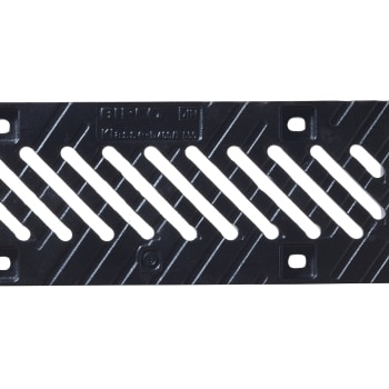 birco 100 cast iron diagonal slotted steel grate 12mm