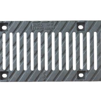 birco 150 galvanised cast iron slotted grate 12mm