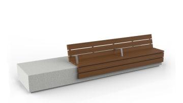 longo seat module white background