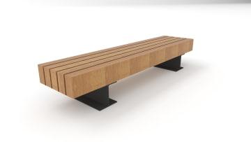 wooden trammet bench white background