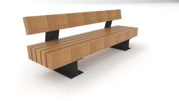wooden tramet seat white background