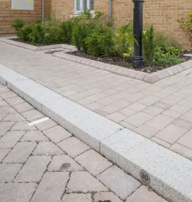 conservation kerb in a car park