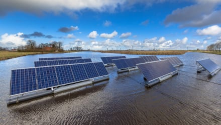 The power of floating solar farms