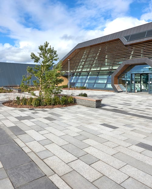 block paving outside business office