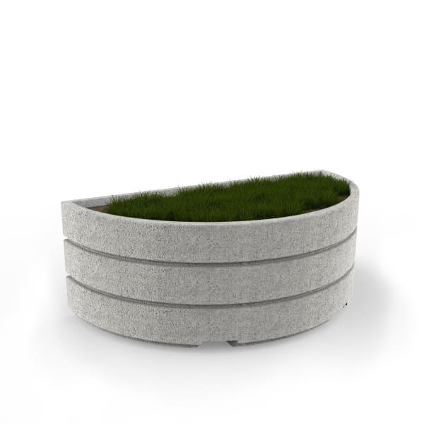 boulevard semi circular planter 2000mm
