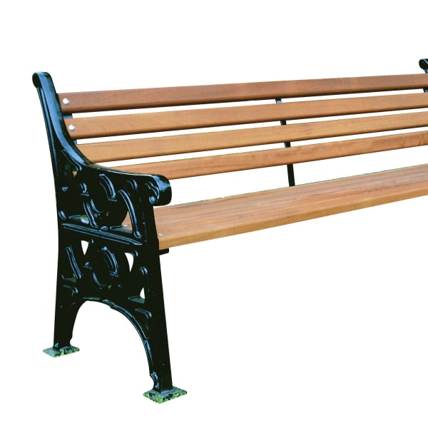 imperial heritage seat in cast iron and timber