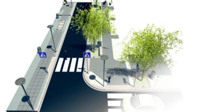 Google sketchup model of a street scene