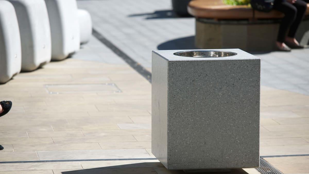 ashtray casting a shadow outside