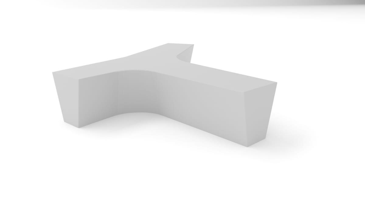 white plastic twig bench white background