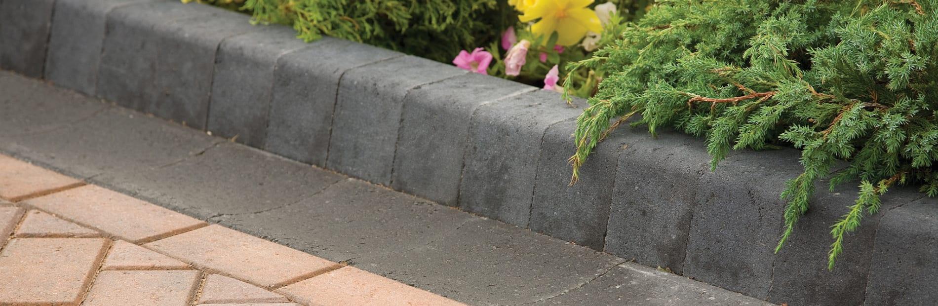 keykerb used as a flowerbed