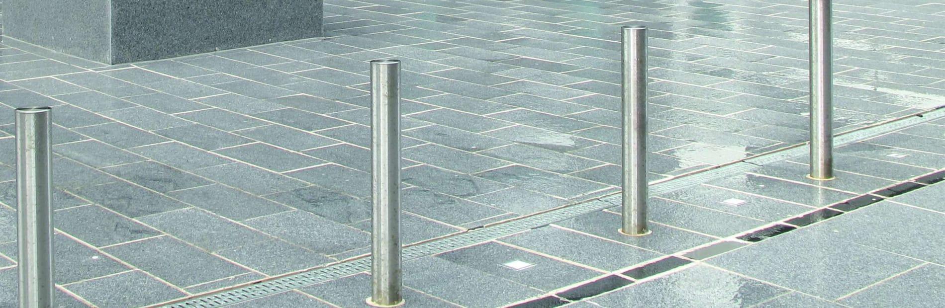silver grey granite paving insitu aberdeen