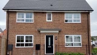 Home built using Marshall's Harrogate Burnt Harvest sand faced bricks