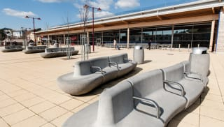 Igneo Seating outside railway station