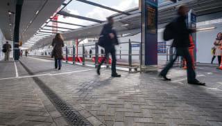 birco lite insitu at a train station platform