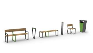 Loci bench, Loci seating and Loci bollard