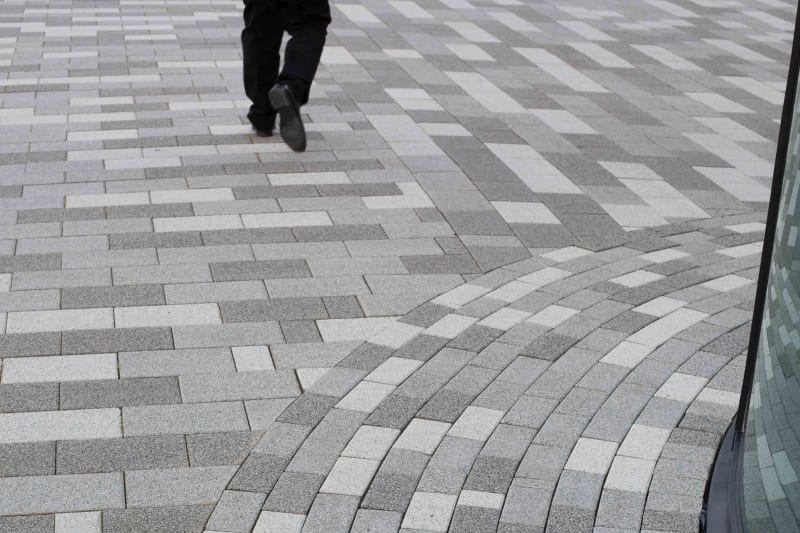 Modal paving at Liverlpool Exhibition Centre