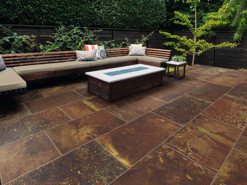 A relaxing garden seating area