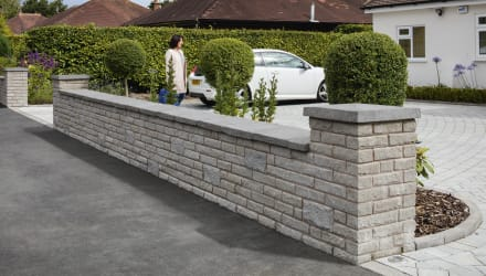 Pitched Face Walling