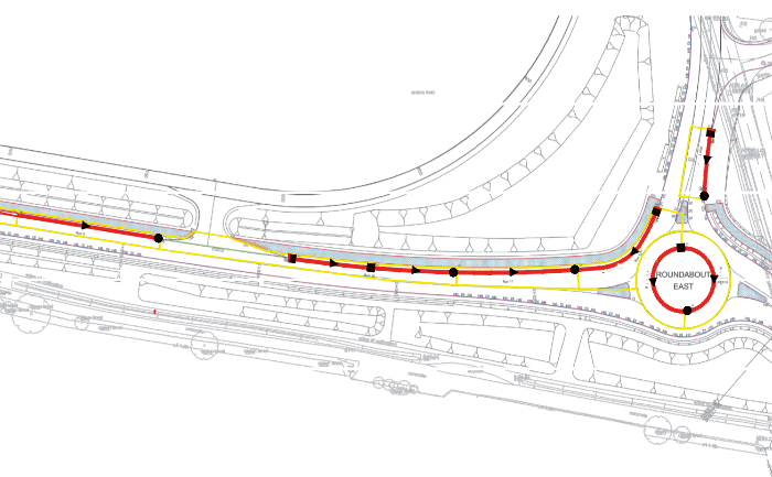 Landscape drainage design
