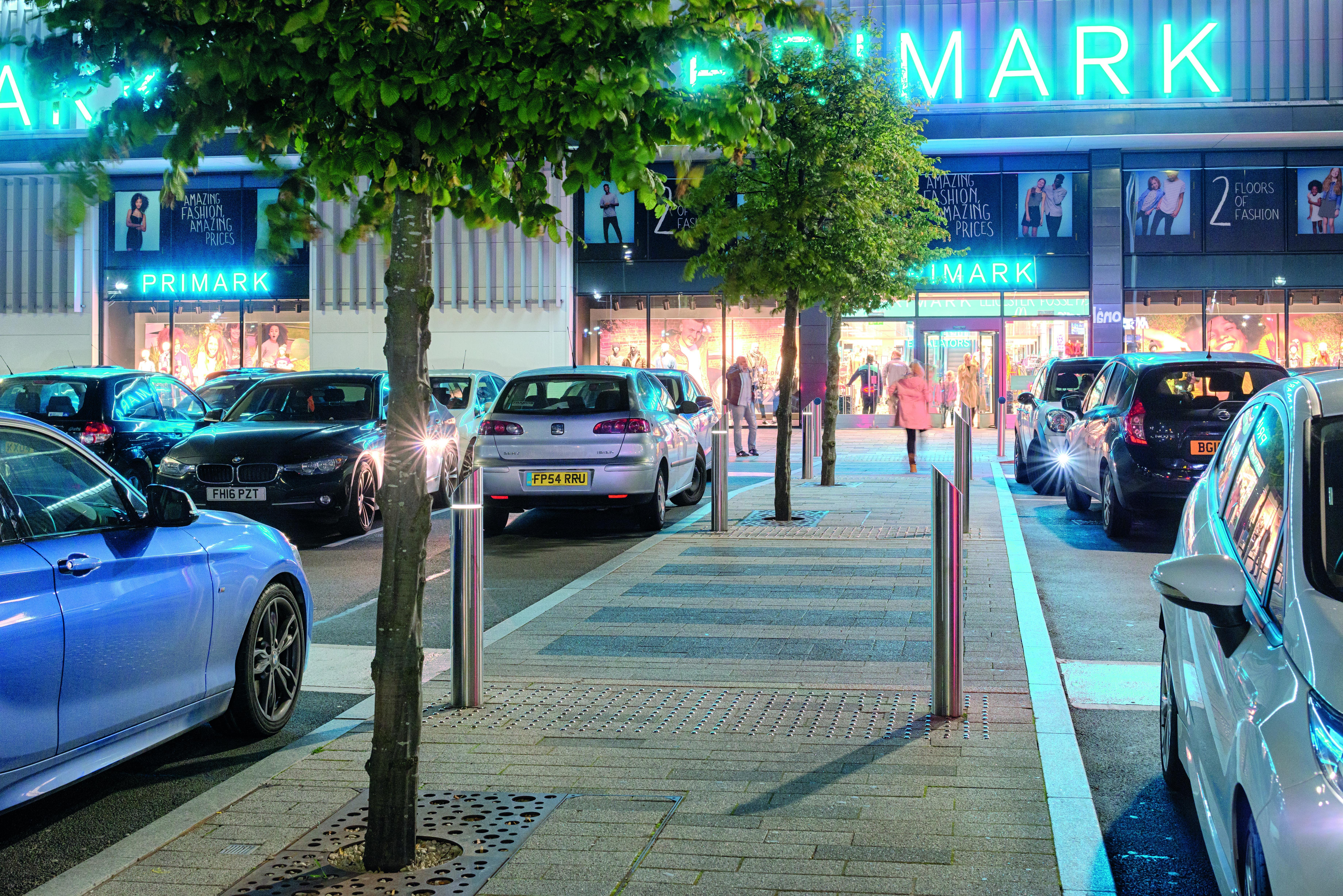 Primark car park using Marshalls bollards
