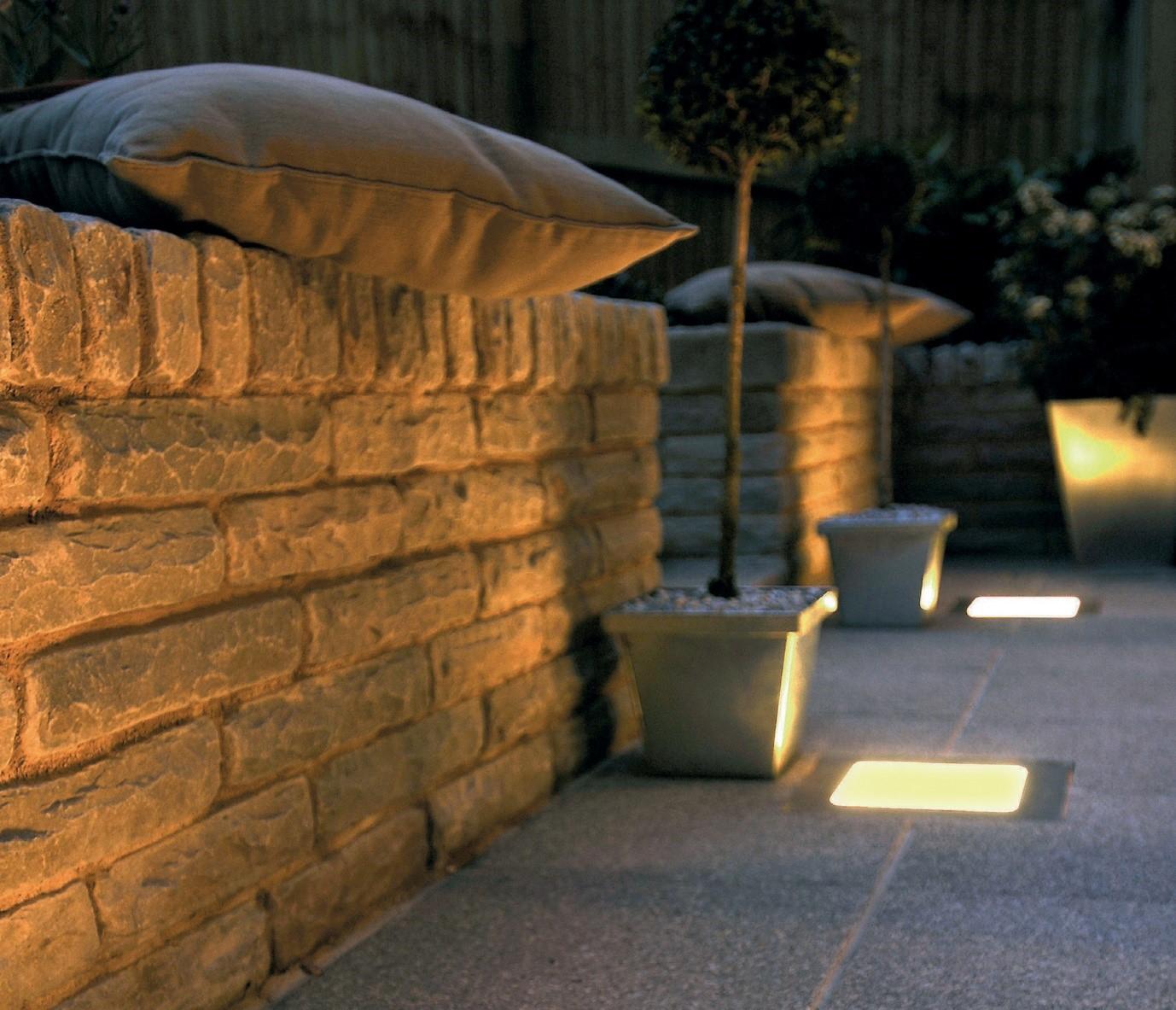 Stone walling in a garden