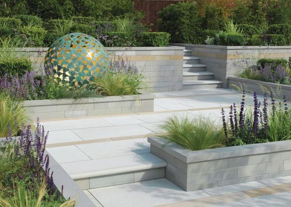 Garden sculpture in a garden area