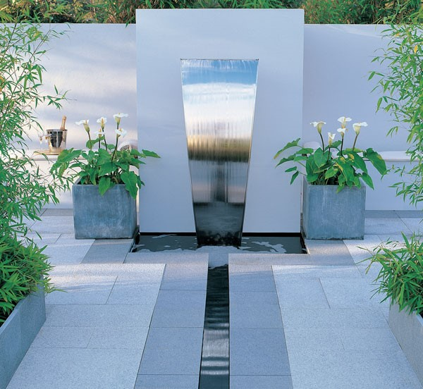 water feature in a garden