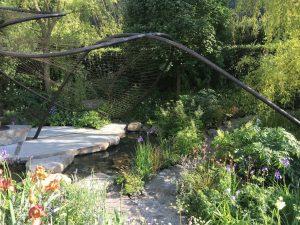 Garden rockery area