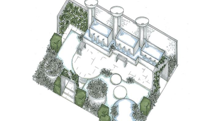Stonemarket supports the water garden at RHS Tatton park flower show