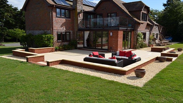 patio design & build using paleo vitrified paving