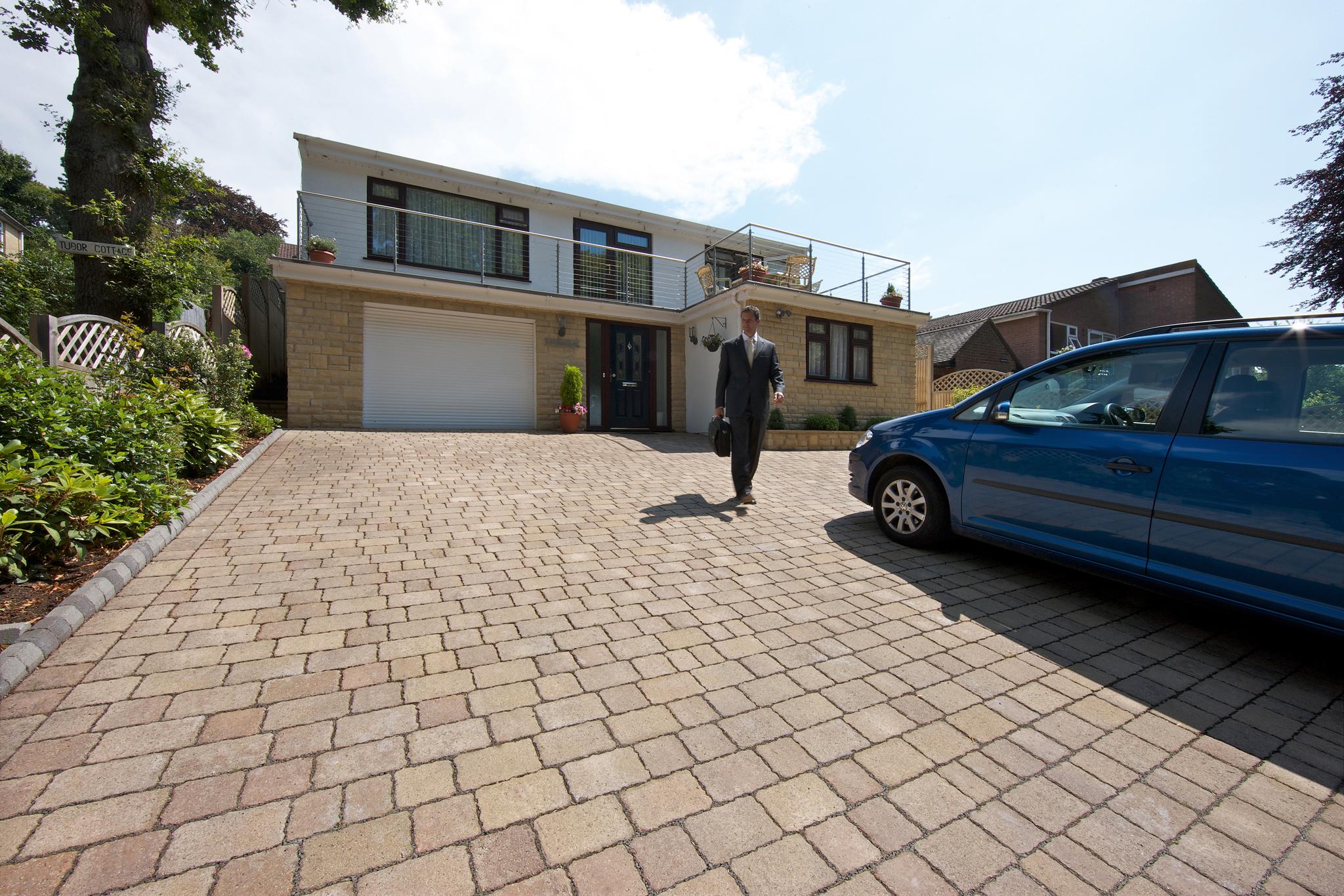 Marshalls Drivesett Tegula Priora laid on a driveway