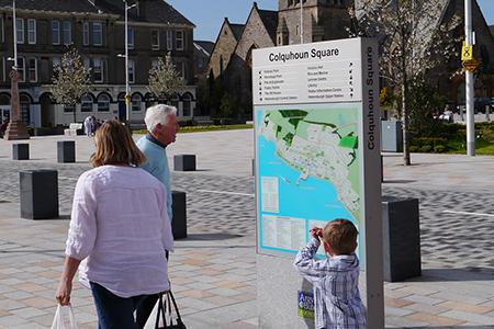Bespoke signage in Colquhoun Square