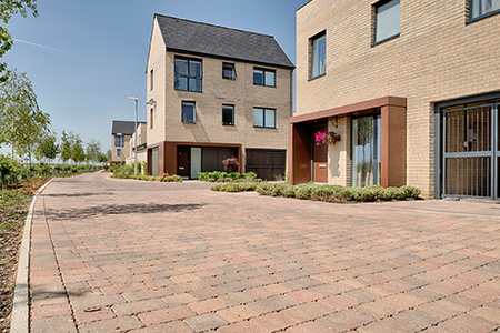 House builder access and estate road products including block paving and kerbs for road use