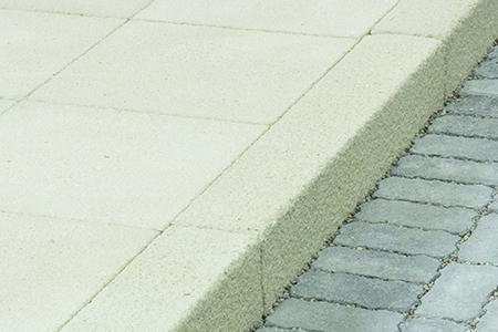 House builder paving products including paving and kerbs for footpaths
