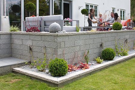 House builder walling products for new build housing and gardens