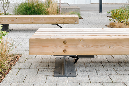 Benches and street furniture for new build housing estates