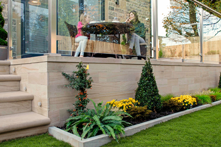 General builder walling products for new build housing and gardens
