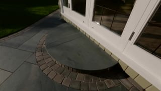 View Garden Fly Through: Fairstone Casarta Slate And Tumbled Sawn Setts video