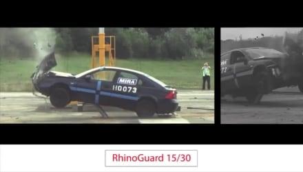 Rhinoguard 15-30 Bollard Crash Test