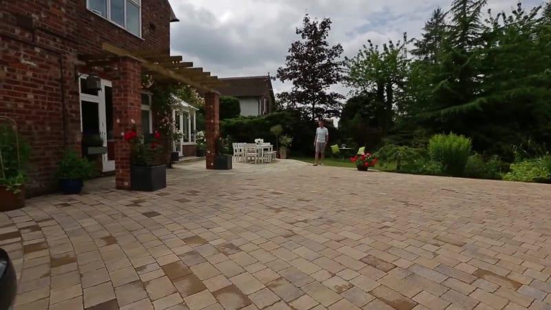 Garden Fly Through: Fairstone Limestone Aluri And Drivesett Tegula Original