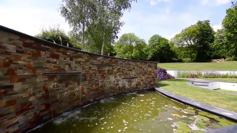 Garden Fly Through: Stoneface Drystack Veneer Walling