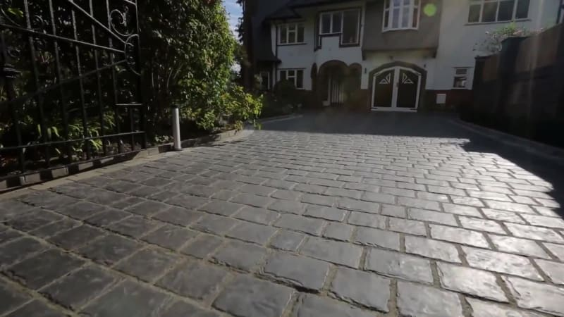 Garden Fly Through: Drivesys Split Stone And Fairstone Sawn Tumbled Setts