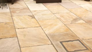 how to clean indian sandstone paving